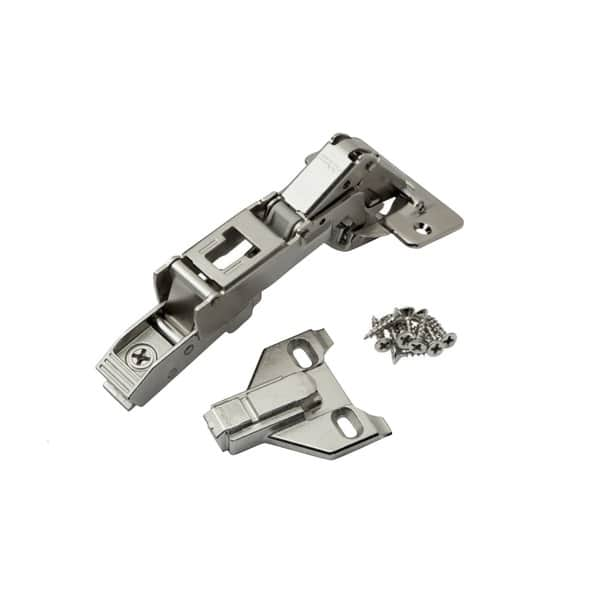 Blum 170-degree Clip Top Full Overlay Screw-on Cabinet Hinge with Face  Frame Mounting Plate