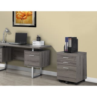 I 7050 Laminate Dark Taupe 3-drawer Castor File Cabinet