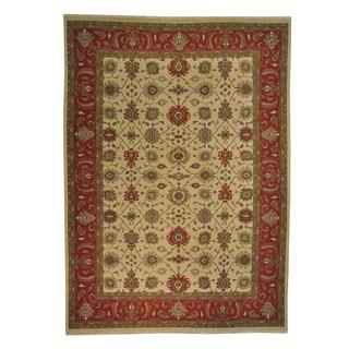 Hand-woven Soumak Flat Weave Mahal Design Oriental Wool Area Rug (10' x 14')