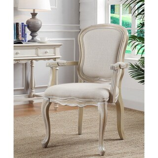 Ivory Natural Wash Finish Accent Chair