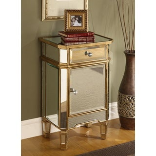1-drawer, 1-door Mirrored Cabinet
