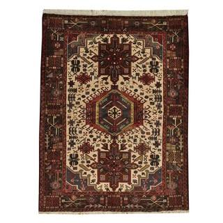 Persian Hand-knotted Karajeh Oriental Wool Area Rug (5' x 7')