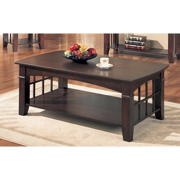 coaster company cherry contemporary coffee table - free shipping