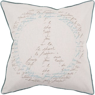 Ora Peace Sign Down- or Poly-filled Decorative Pillow
