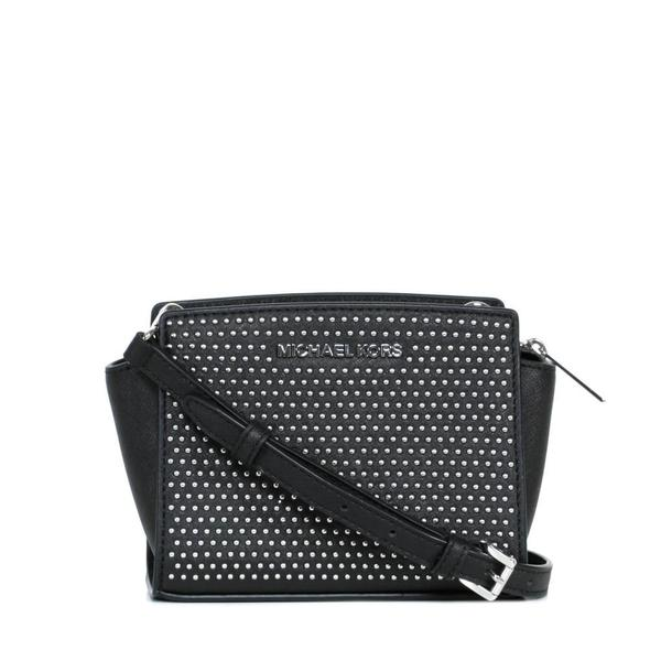 fd4c36f8d101e MICHAEL Michael Kors Micro Stud Selma Saffiano Leather Mini Messenger