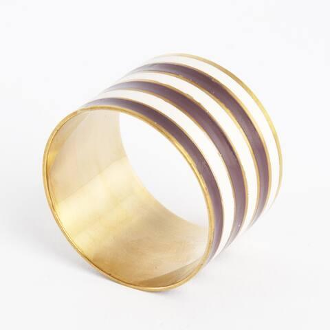 Striped Design Napkin Ring (Set of 4)