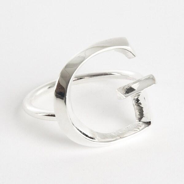 Initial Napkin Ring [G] - (Set of 4)