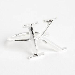 Initial Napkin Ring [K] - (Set of 4)