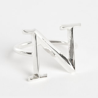 Initial Napkin Ring [N] - (Set of 4)