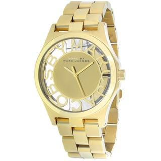 Marc Jacobs Women's MBM3292 Henry Skeleton Round Gold-plated Bracelet Watch