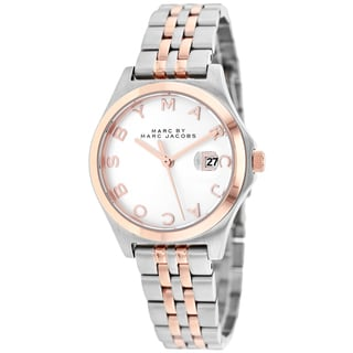 Marc Jacobs Women's MBM3353 The Slim Round Two-tone Bracelet Watch