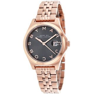 Marc Jacobs Women's MBM3352 The Slim Round Rose Gold Bracelet Watch