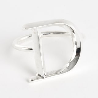 Initial Napkin Ring [D] - (Set of 4)
