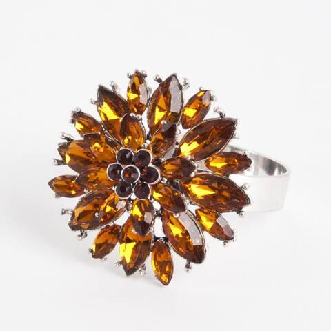 Flower Design Napkin Ring - (Set of 4)
