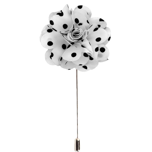 3417abcaa617 Shop Men's Handmade Polka Dots Lapel Flower Pin - Free Shipping On ...