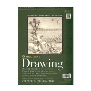 Strathmore Series 400 Premium Recycled Drawing Pads - White