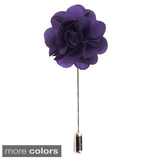 Elie Balleh Metal Solid Color Men's Suit Handmade Lapel Flower Pin (2 options available)