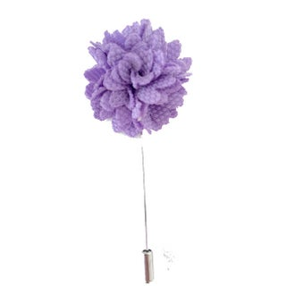 Men's Handmade Formal Lapel Flower Pin (Option: Lavender)