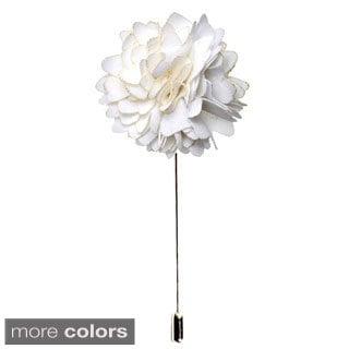 Men's Handmade Formal Lapel Flower Pin (Option: Black)