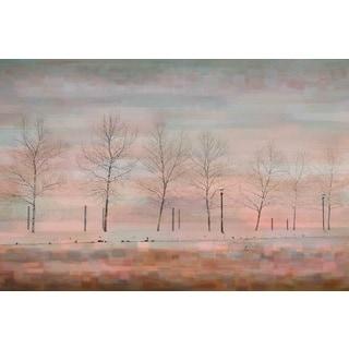 Parvez Taj 'Pink Horizon' Canvas Art
