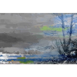 Parvez Taj 'Grey Solitude' Canvas Art