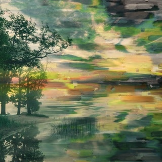 Parvez Taj 'Lakeside Trees' Canvas Art