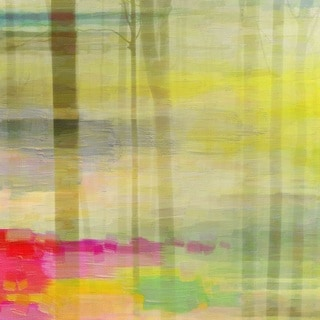 Parvez Taj 'Yellow Forest' Canvas Art