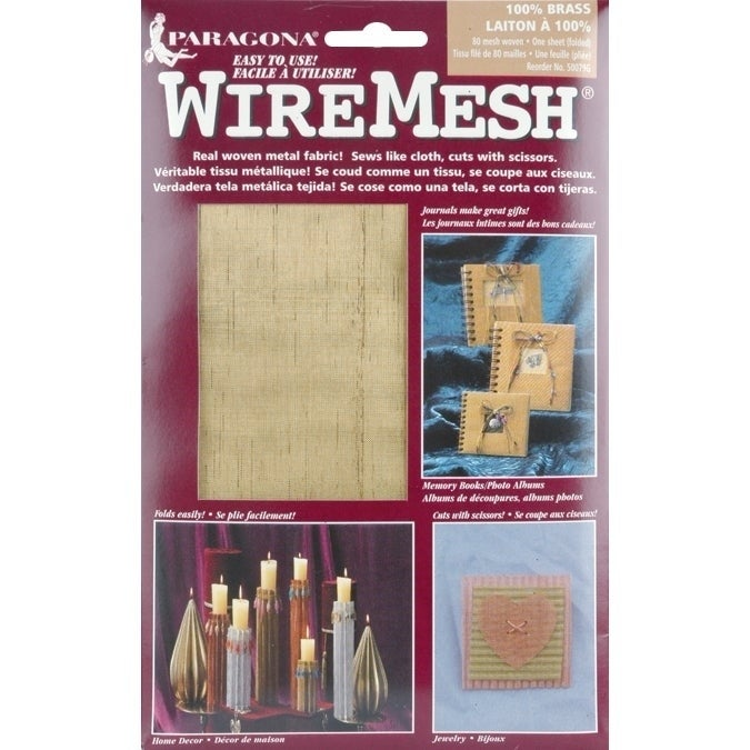 Amaco WireMesh Woven Fabric (brass), Brown copper