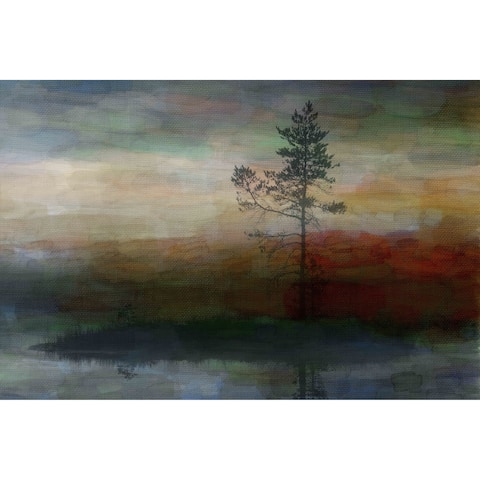 Handmade Parvez Taj - Lone Tree Canvas Art