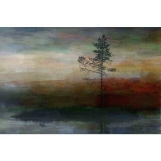 Parvez Taj 'Lone Tree' Canvas Art