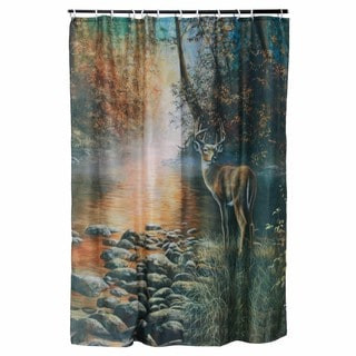 River's Edge Products Deer Shower Curtain
