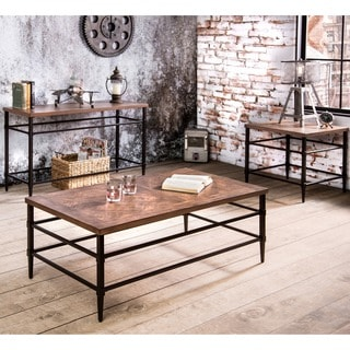 Furniture of America Colegate Industrial 3-Piece Accent Table Set