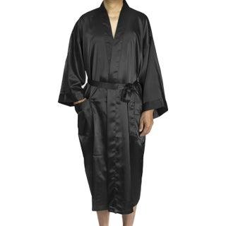 Leisureland Men's Satin Long 48-inch Kimono Robe (4 options available)
