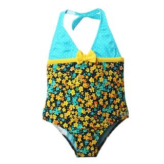 Azul Swimwear Girls' 'Prairie Girl' Halter One Piece