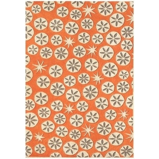 Alliyah Handmade Coral Rose New Zeland Blended Wool Rug (9' x 12')
