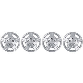 BDK Universal Fit 15-inch 4-piece Durable ABS Silver Hubcap Set (2002 Nissan Altima Style)