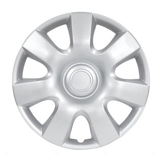 BDK Universal Fit 15-inch 4-piece Durable ABS Silver Hubcap Set (Toyota Camry Style)