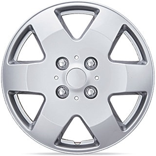 BDK Universal Fit 15-inch 4-piece Durable ABS Silver Hubcap Set