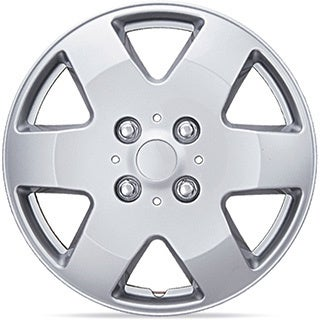 BDK Universal Fit 15-inch 4-piece Durable ABS Silver Hubcap Set