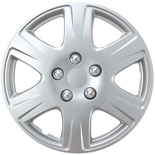 BDK Universal Fit 15-inch 4-piece Durable ABS Silver Hubcap Set (Toyota Corolla Style)