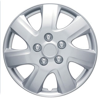 BDK Universal Fit 16-inch 4-piece Durable ABS Silver Hubcap Set (New Toyota Camry Style)