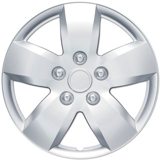 BDK Universal Fit 16-inch 4-piece Durable ABS Silver Hubcap Set (Nissan Altima Style)