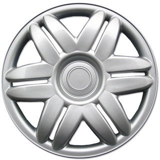 BDK Universal Fit 15-inch 4-piece Durable ABS Silver Hubcap Set (00-01 Toyota Camry Style)