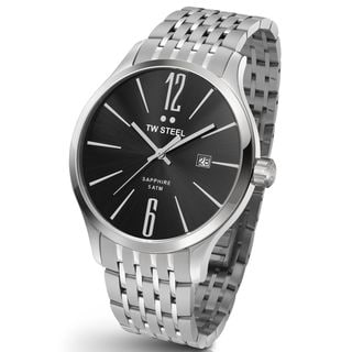 TW Steel Men's TW1306 Slim Black Stainless Steel Watch