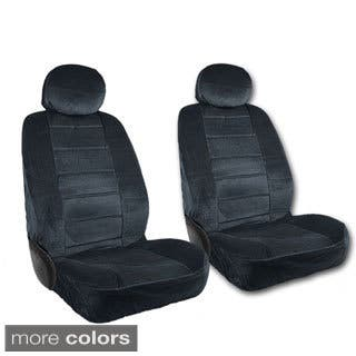 BDK Deluxe 4 Piece Low Back Universal Fit Fabric Front Car Seat Covers
