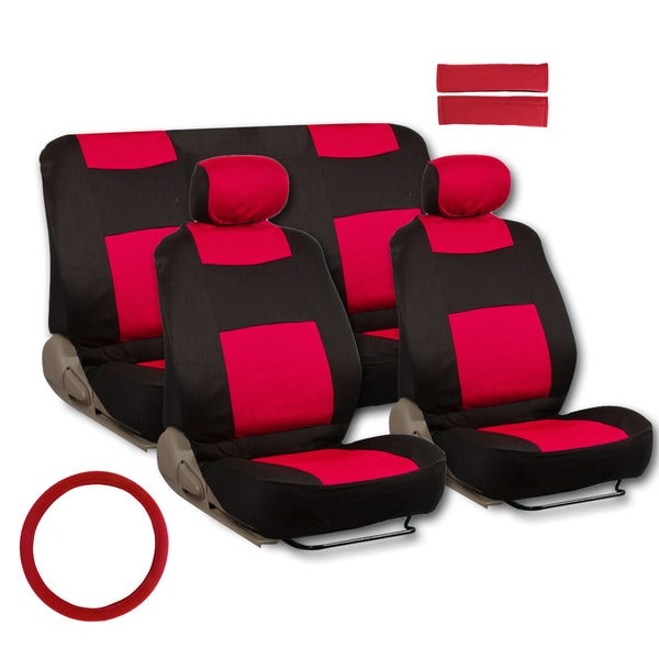 11 Piece Car Truck Seat Cover: BDK Universal Fit 11-piece Deluxe Extra Foam Cushion Car