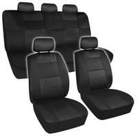 BDK Universal Fit 11-piece Premium Fresh Mesh Car Seat Covers - Black/ Black