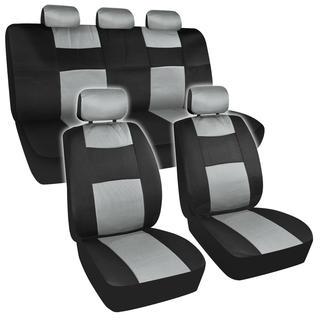 BDK Universal Fit 11-piece Premium Fresh Mesh Car Seat Covers - Black/ Grey