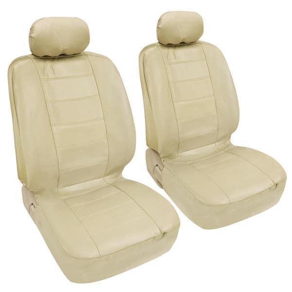 BDK Premium Faux Leather 4 Piece Front Car Seat Covers
