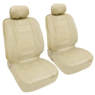 BDK Premium Faux Leather 4 Piece Front Car Seat Covers